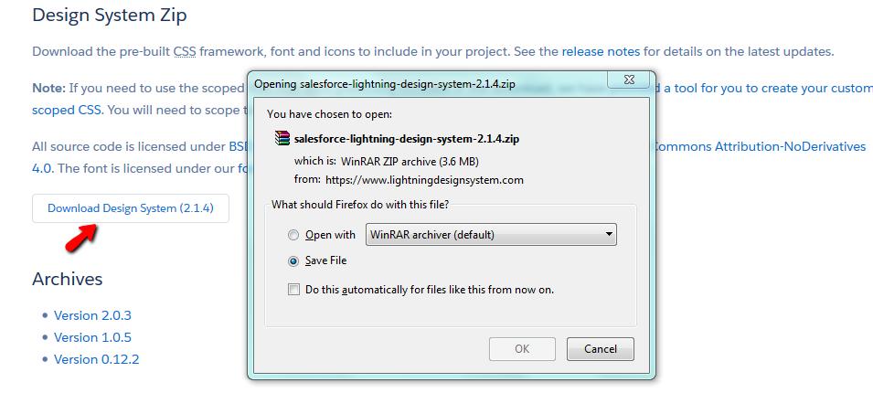 use lightning design system