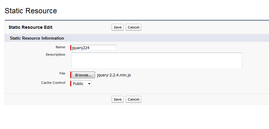 upload jQuery files