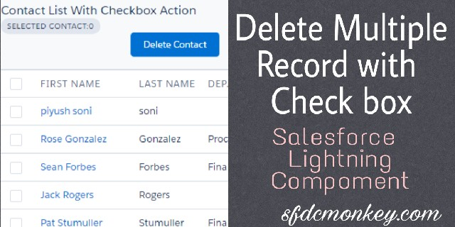 Delete Multiple Records Using Checkbox In Lightning Component