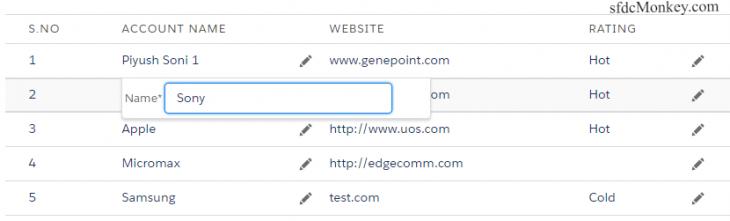 inline edit data table