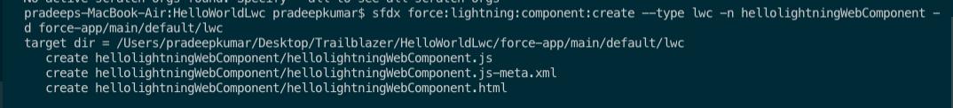 Creation of Lightning Web Component step 22